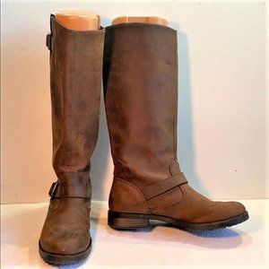 Xhilaration Brown Leather Boots, Sz 8